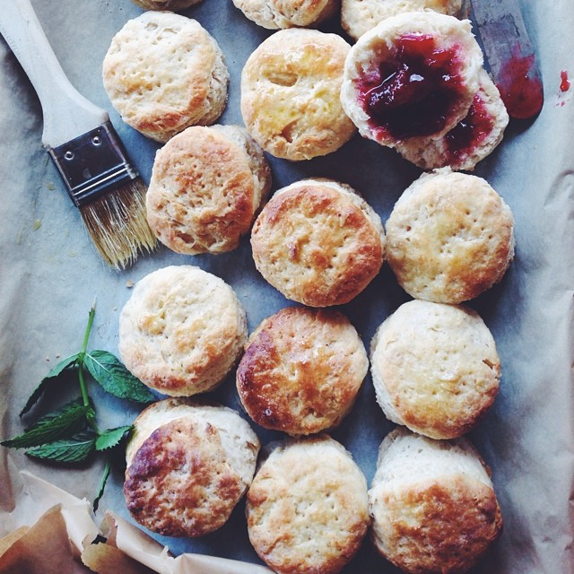 Buttermilk Oat Biscuits With Strawberry-balsamic Jam