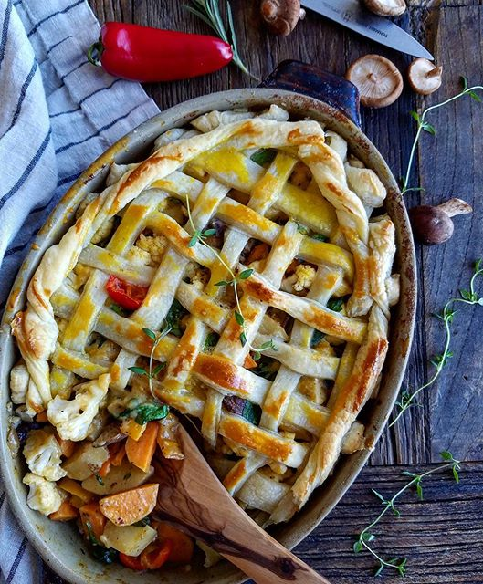 Easy Puff Pastry Veggie Pot Pie
