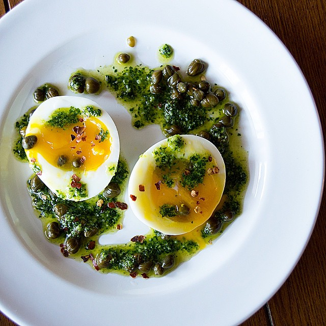 Capers + Eggs With Parsley