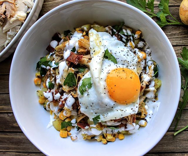 Leftover Thanksgiving Turkey Breakfast Skillet