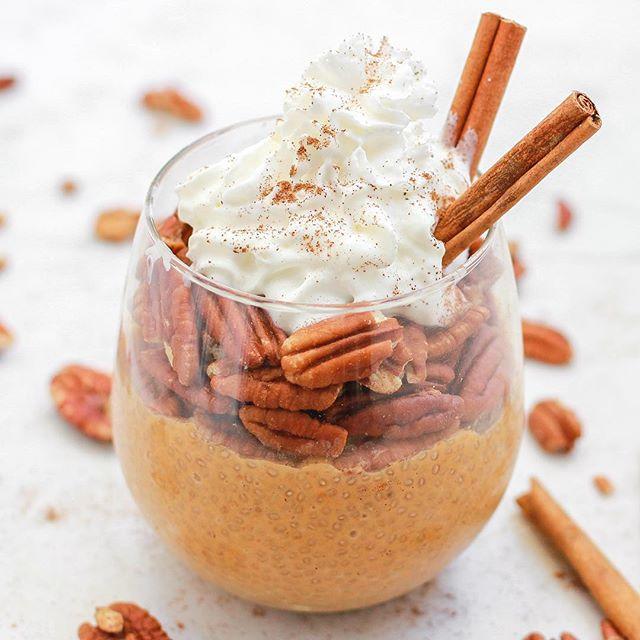 Pumpkin And Cinnamon Bun Chia Pudding