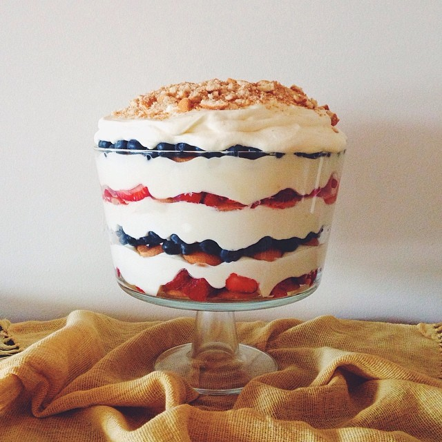 Red, White And Blue French Vanilla Pudding Trifle