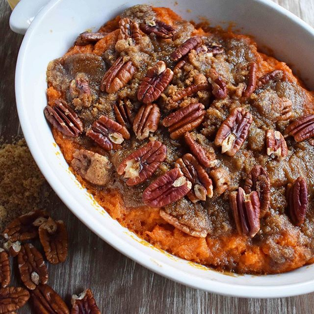 Brown Sugar Pecan Sweet Potato Casserole