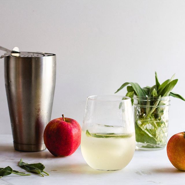 Apple Sage Vodka Cocktail