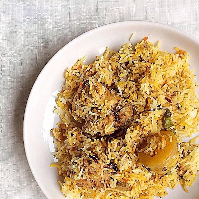 Spicy Chicken And Potatoes Biryani