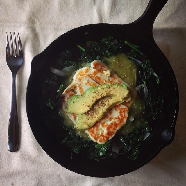 Quinoa And Salsa Verde Bowl