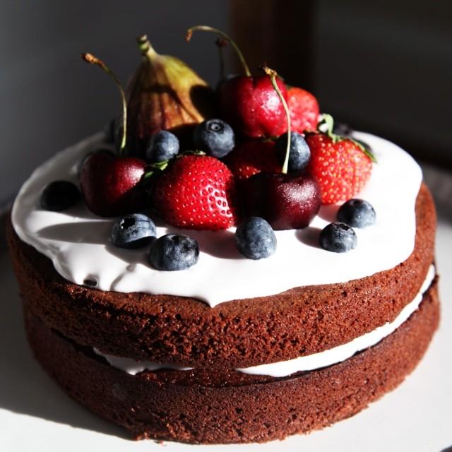 Whole Spelt Flour Chocolate Cake