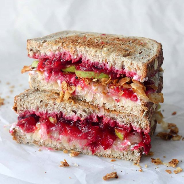 Cranberry Pear Grilled Cheese