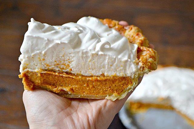Brown Sugar Pumpkin Pie With Honey Meringue Topping