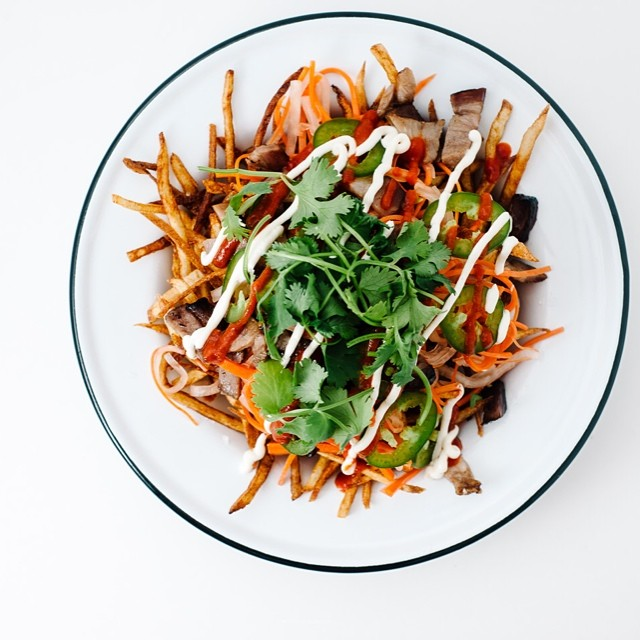 Bahn Mi Fries With Pickled Daikon & Chinese Bbq Pork