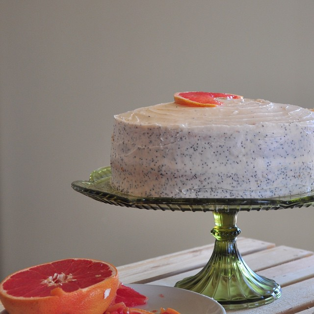Grapefruit & Poppyseed Layer Cake