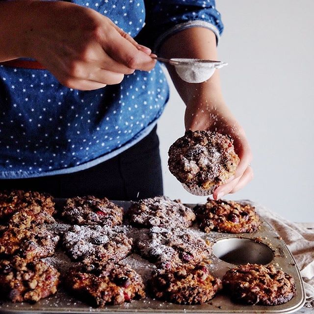 Cranberry Muffins With Pecan Streusel • Food Stylist and ...