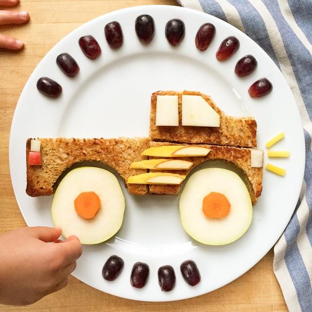 Monster Truck Kids Plate