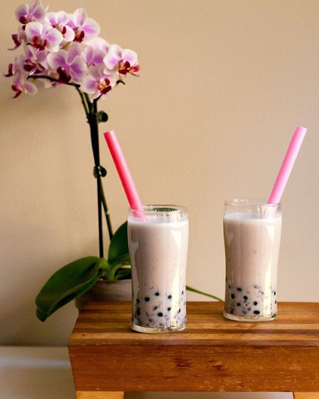 Homemade Red Bean Bubble Tea