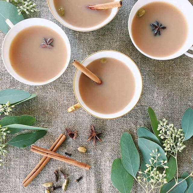 The long weekend is over already?! At least we have this cozy bourbon chai cocktail to warm us up!