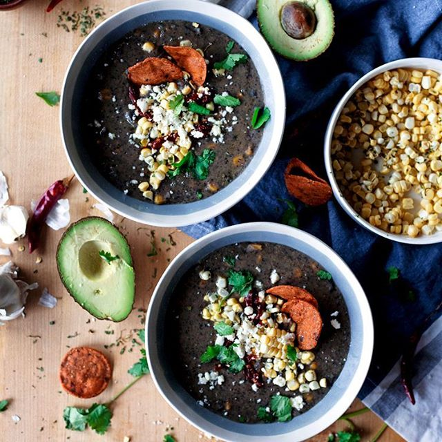 Black Bean And Roasted Poblano Soup
