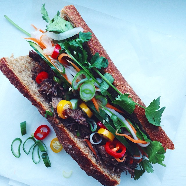 Spicy Banh Mi With Beef & Onion