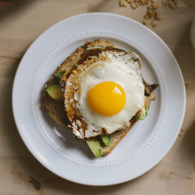 Balsamic Fried Egg Avocado Toast