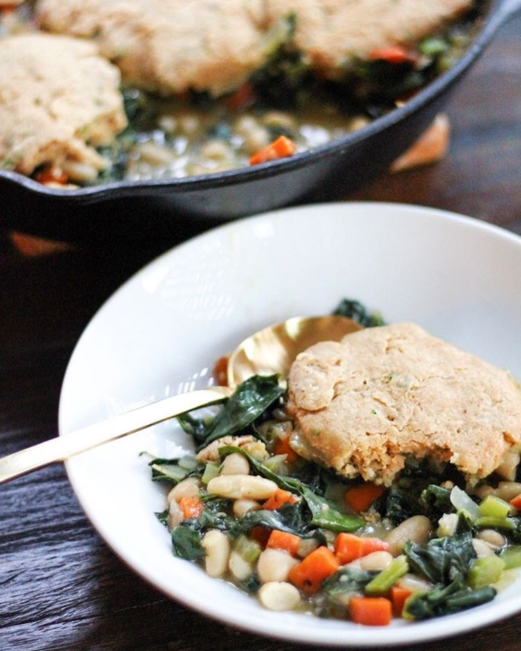 Veggie Pot Pie With Kale And White Beans