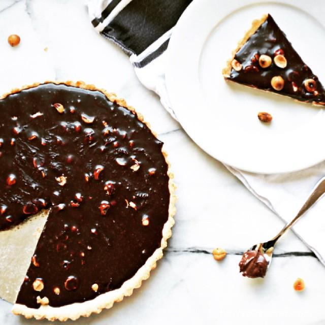Chocolate Hazelnut Ganache And Salted Caramel Tart