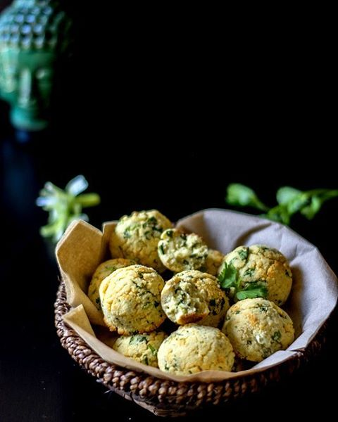 Coconut Flour Biscuits With Scallions And Cilantro