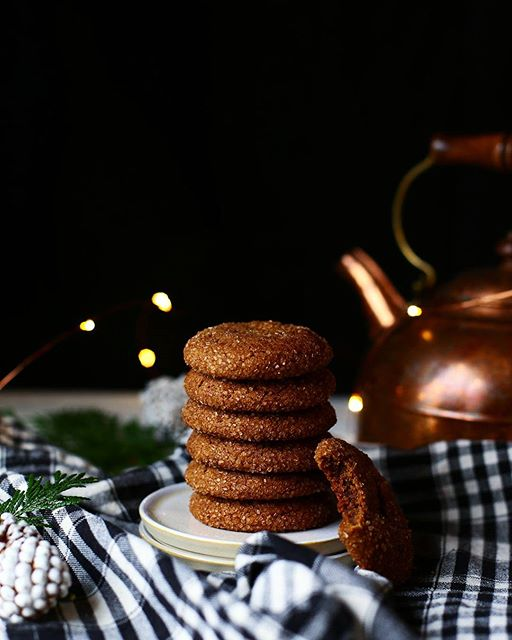 Chai Spiced Molasses Cookies