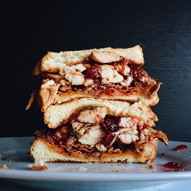 Grilled Cheese With Cranberry, Cheddar, And Turkey