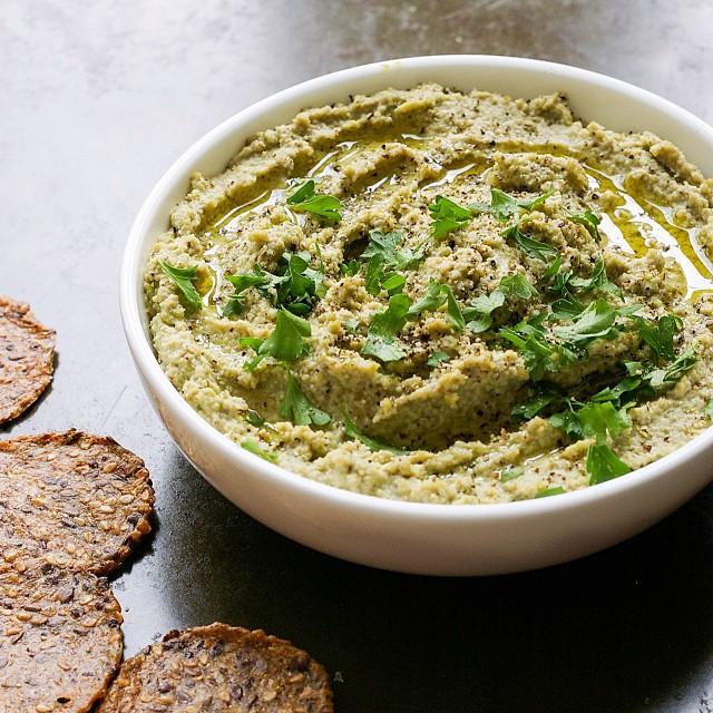 Edamame Miso Dip With Green Lentils, Lemon & Tahini