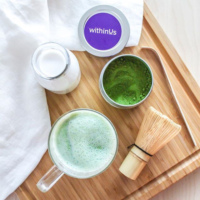 all about the cozy saturday morning matcha latte loving happening over here: almond milk matcha…