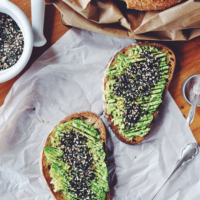 Avocado Toast With Sesame & Hemp Seed