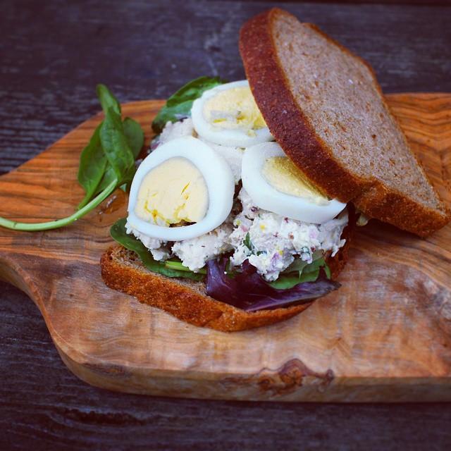 Tuna Salad Egg Sandwich