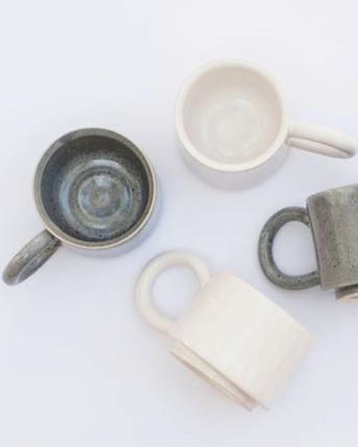 And speaking of beautiful ceramics how lovely are these petite gray and white espresso cups that…