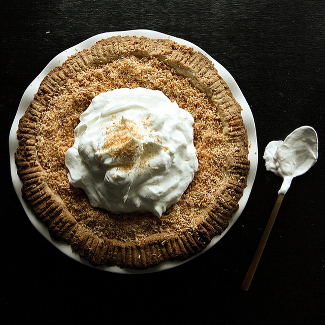 Coconut And Pumpkin Pie With Coconut Shortbread Crust