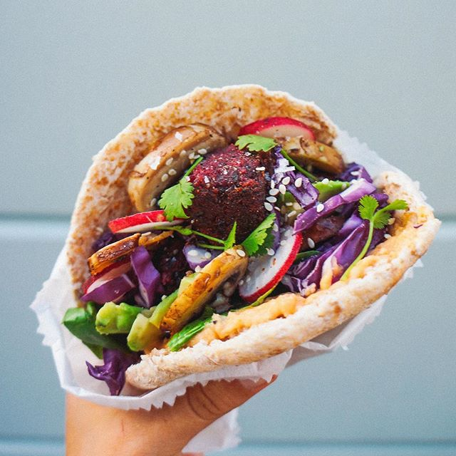 Beetroot Smoked Paprika Falafel Pita Pockets By Anettvelsberg Quick Easy Recipe The Feedfeed
