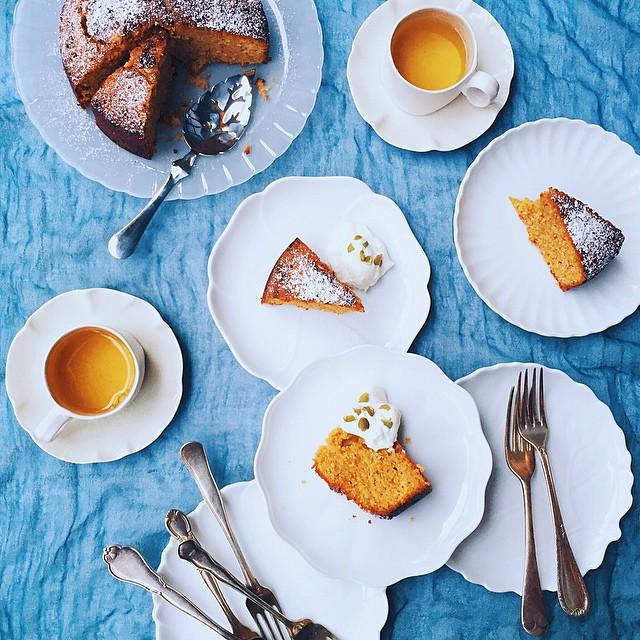 Lime-yogurt Cake With Orange Blossom Syrup & Pistachios