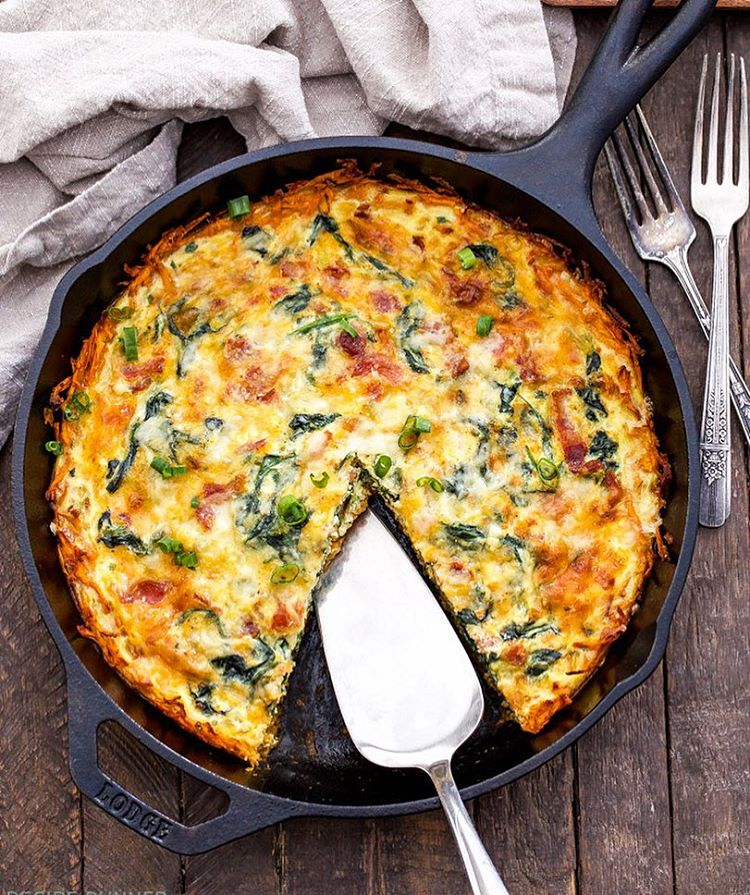 I've started planning our Christmas morning breakfast and this Spinach, Bacon, Cheese Quiche with…