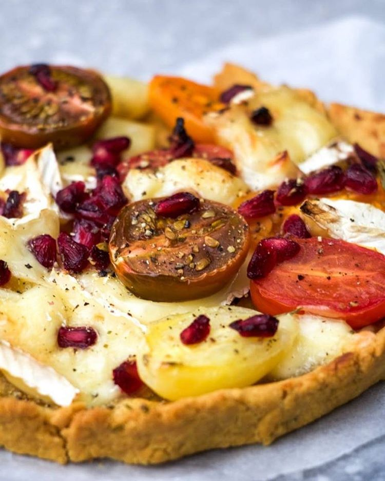 Savory Chickpea Flour Tart With Tomatoes And Brie
