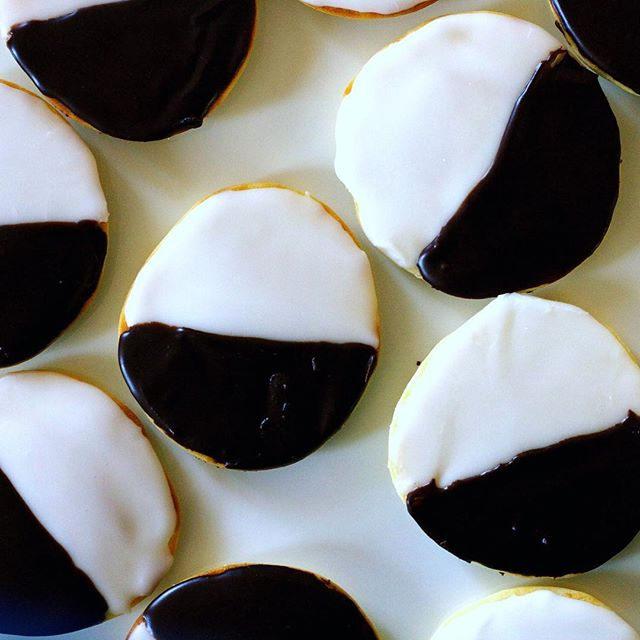 Classic Black And White Cookies