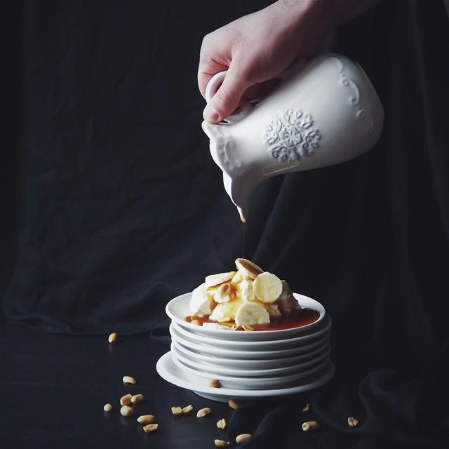 Caramel Ice-cream With Peanut