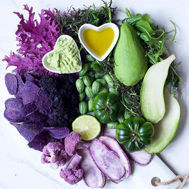 More green & purple (I just added that to my new year's resolutions list (food section) What food…