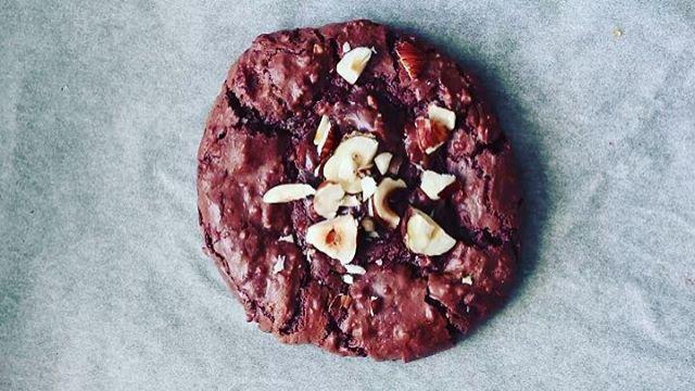 Chocolate Hazelnut Brownie Cookies