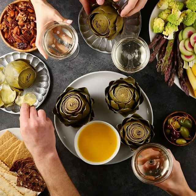 Hosting a New Year's Eve party?! Make our Steamed Artichokes w/ Homemade Saffron Aioli made w/…