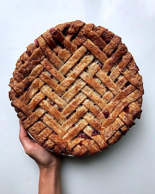 Cranberry Sage Pie With Herringbone Lattice Whole Grain Crust