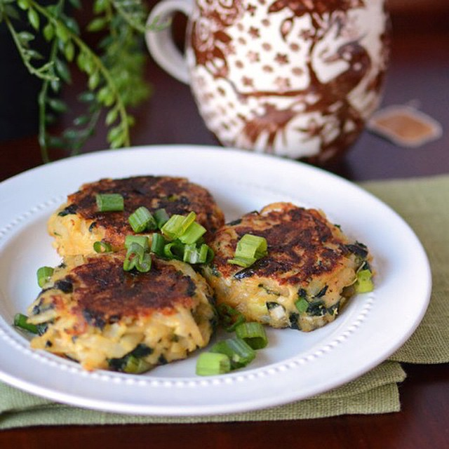 Spinach Potato Cakes With Parmesan