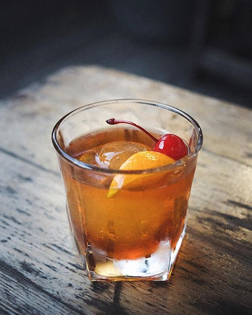 Old Fashioned With Maraschino Cherry