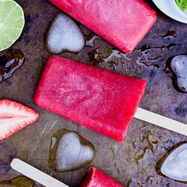 Rhubarb And Lime Popsicles