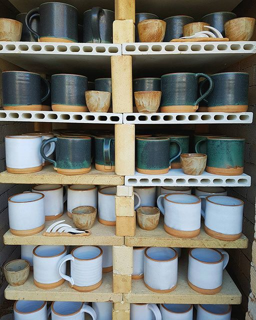 This is what a successful kiln firing looks like, not a piece lost! 200 handthrown mugs for…