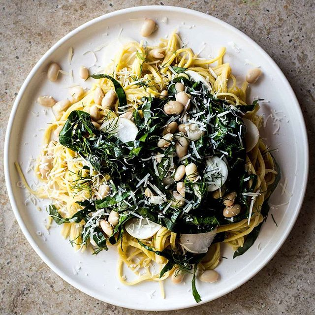 White Bean & Collard Green Spaghetti with Lemon & Turnips. An oldie but a goodie. This dish is a…