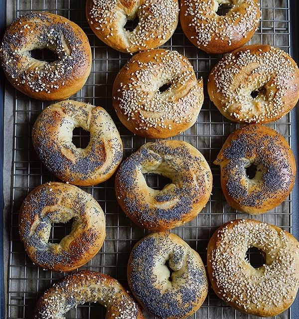 Homemade Sesame and Poppyseed Bagels// This was my first time making bagels and it was quite the…