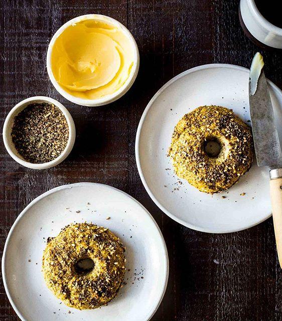 Cauliflower Bagels With Za'atar